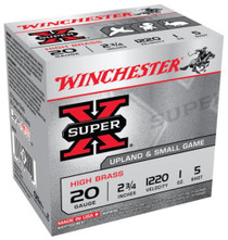 "Winchester Super-X High Brass 20 Ga, 2.75"", 1oz, 5 Shot, 25rd/Box"