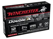 "Winchester Supreme Double X Magnum 12 ga 2.75"" 12 Pellets 00 Buck 5Bx/50Cs"