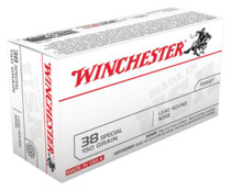 Winchester USA .38 Special 150gr, Lead Round Nose, 50/Box
