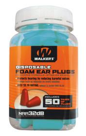 Walkers Foam Ear Plugs 32 dB Teal 50 Pair