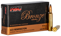 PMC Bronze 223 Rem 55gr, Pointed Soft Point 20rd Box