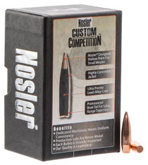 Nosler Custom Competition Reloading Bullets 6.5mm .264 100gr, Hollow Point Boat Tail, 100 Box