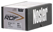Nosler RDF Match Reloading Bullets 22 Caliber .224 77gr, Hollow Point Boat Tail 500 Box