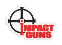 "Impact Guns Logo Patch, PVC, Velcro Backed, 3""x2"""