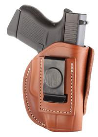 1791 Gunleather 4 Way Glock 42/43, Kel-Tec 380/P11, Ruger LCP, S&W Bodyguard, Sig P365 Steerhide, Classic Brown