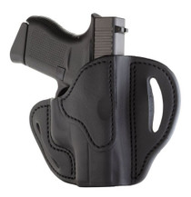 """1791 BHC Belt Holster Compact, OWB, Stealth Black Leather, Fits Glock 42/43/43X, 1911 3"""", Right Hand BHC-SBL-R"""