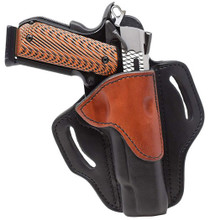 """1791 Belt Holster 1, Right Hand, Black/Brown Leather, Fits 1911 4"""" & 5"""""""