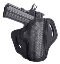 """1791 Belt Holster 1, Right Hand, Carbon Fiber Black, Fits 1911 4"""" & 5"""", Leather"""