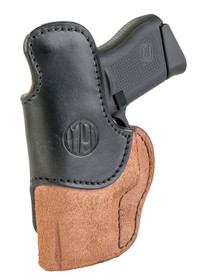 1791 Gunleather RCH Rigid Concealment Holster, IWB, Brown/Black Leather, Fits Glock 25/26/27/29/30/33, S&W MP9/Shield, Right Hand, Size 3 RCH-3-BLB-R