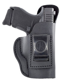 1791 Gunleather Smooth Concealment Holster, IWB, Night Sky Black Leather, Fits Glock 42/43/43X, Ruger LC9/SR22, Right Hand, Size 3 SCH-3-NSB-R