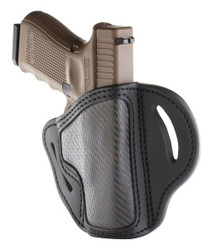 1791 BH2.1, Belt Holster, Right Hand, Carbon Fiber Black, Fits 1911 Officer with Rail / Glock 17, 19, 19x, 23, 25, 26, 27, 28, 29, 30, 32, 33, 45, 48 / FN FNS-9 / Ruger SR9, SR40, SR22 / S&W MP9, MP40, MP40c, Shield, 5903 / Sig P225-A1, P228, P229, P229c