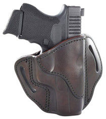 1791 Belt Holster, Right Hand, Brown, Leather. Fits 1911 Officer with Rail / Glock 17, 19, 19x, 23, 25, 26, 27, 28, 29, 30, 32, 33, 45, 48 / FN FNS-9 / Ruger SR9, SR40, SR22 / S&W MP9, MP40, MP40c, Shield, 5903 / Sig P225-A1, P228, P229, P229c / Springfie