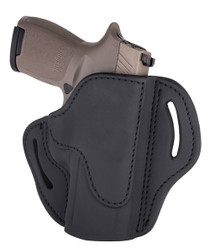 1791 Belt Holster 2.4, Right Hand, Stealth Black Leather, Fits Sig P320c, P229, M11A1, & Springfield XDMc
