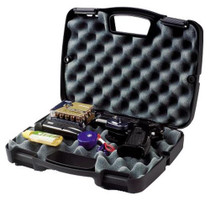Plano Gun Guard SE Single Scoped Handgun Case Plastic Ribbed Black 13.5''Lx10.13''Wx3''H