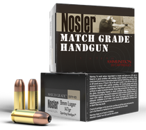 Nosler Match Grade Handgun 9mm 147gr, Jacket Hollow Point, 20rd/Box