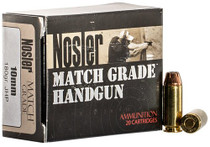 Nosler Match Grade Handgun 10mm 180gr, Jacketed Hollow Point, 50rd/Box
