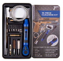 DAC Gunmaster .45 Pistol Cleaning Kit, 15 Pieces, 45 Cal, Includes Ratchet Handle and Bit Set, Slim Line Metal Case