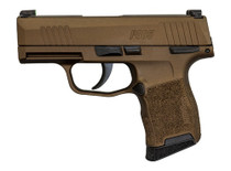 "Sig P365 9mm, 3"" Barrel, XRay3 Night Sights, Manual Safety, Burnt Bronze, 10rd"