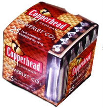 Crosman Powerlet CO2 Cartridges, 12 Grams, Stainless, 25/Pack