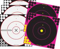 "Birchwood Shoot-N-C 3x12"" Black 2x12"" Pink Bullseyes, 5 Pack"