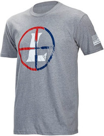 Leupold USA Reticle T-Shirt Gray Heather 2XL