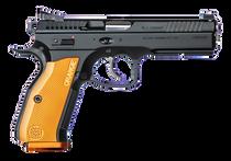 "CZ SHADOW II ORANGE 9mm 4.9"" Barrel Aluminum Grips 17RD Mag"