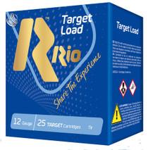 "Rio Target Load 12 Ga, 2.75"",  1 1/8oz, 7.5 Shot, 25rd Box"