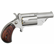 "North American Arms Mini Revolver, Ranger II, Revolver, 22 WMR, 1.625"", Full Ribbed Barrle, Full Bead Blast, Rosewood Grips, Fixed Sights, 5Rd, Break Open Cylinder"