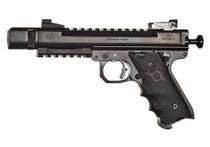 """Volquartsen Scorpion .22 LR, 4.5"""" Barrel, Target 22 Frame, Comp, Target Sights, Black"""
