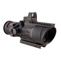 Trijicon 6X48 ACOG, Dual Illuminated Red Chevron .308 Reticle Coltknob Thumbscrew Mount & LED 6.5 MOA Red Dot Rmrtype 2