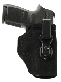 Galco TUCK-N-GO 2.0 Strongside/Crossdraw Inside Waistband Holster, Fits For GLOCK 17, 22, 31, Ruger Security-9, Ambidextrous, Black Leather