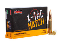 PMC XTAC Match, 308 Winchester, 168gr, Open Tip Match, 20rd Box