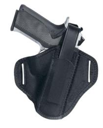 """Uncle Mike's Belt Slide Holster Size 2, 4"""" Med/Intermediate DA Revolv, Black Laminate"""