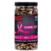 CCI 22LR 40gr, Pink Soft Point, Clean-22, 400rd Bottle 955CC