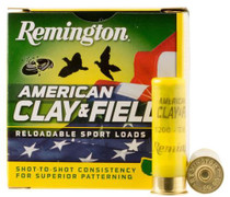 "Remington American Clay & Field Sport Loads 12 Ga, 2.75"", 1-1/8oz, 7.5 Shot, 25rd Box"