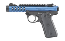 "Ruger, Mark IV Lite, 22/45, Semi-automatic Pistol, 22LR, 4.4"" Threaded Barrel, Polymer Frame, Blue Anodized Finish, Checkered Grips, Adjustable Rear Sight, 10Rd"