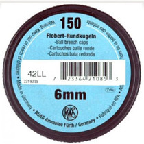 Walther RWS Flobert .22 L.R., 6mm BB Cap Round Ball 150 ct