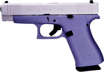"Glock 48 9mm, 4"" Barrel, Fixed Sights, Lavender, Silver nPVD Slide, 2x 10rd"