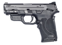 "Smith & Wesson M&P Shield EZ M2.0 Compact 9mm, 3.675"" Barrel, Crimson Trace Laser, Manual Safety, Black, 8rd"