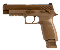 "Sig P320 M17 9mm, Military Surplus, 4.7"" Barrel, Siglite NS, Coyote, 17rd/21rd"