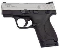 "Smith & Wesson M&P9 Shield 9mm, 3.1"" Barrel, Black/Satin Aluminum, 8rd"