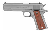 "Colt 1911 Government .38 Super, 5"" Barrel, Steel Frame, Stainless, 9rd"