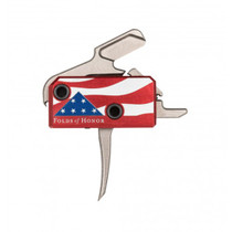 Rise Armament The Patriot High Performance Trigger, AR-Platform Silver/Red/White/Blue Single-Stage Flat 3.50 lbs Right
