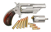 "NAA Ranger II 22 LR/22 Mag Combo, 1.63"" Barrel, Stainless, Rosewood Bird's Head Grip, 5rd"
