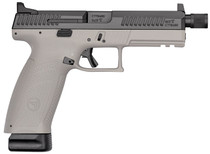 "CZ P-10 Full Size 9mm, 4.5"" Threaded Barrel, High Metal Night Sights, Gray, 10rd"