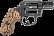 "Colt Night Cobra, Revolver, 38 Special, 2"" Barrel, Steel Frame, Black, VZ Hyena Brown Grips, 6Rd, Brass Bead Front Sight"