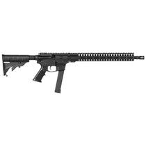 "CMMG Resolute 100 9mm, 16.1"" 1:10 Threaded Barrel, Black, A2 Grip Hider, M4 Stock, M-LOK Handguard, 33rd Glock Mag"
