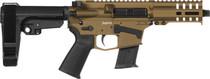 "CMMG Banshee 300 MK57 5.7x28mm, 5"" Barrel, Burnt Bronze, Black RipBrace, 20rd"