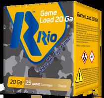 "Rio Game Load 20 Ga, 2.75"", 1oz, 7.5 Shot, 25rd/Box"