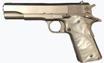 "Rock Island Armory M1911-A1 GI *CA* .45 ACP, 5"" Barrel, Nickel, Pearl Grips, 8rd"